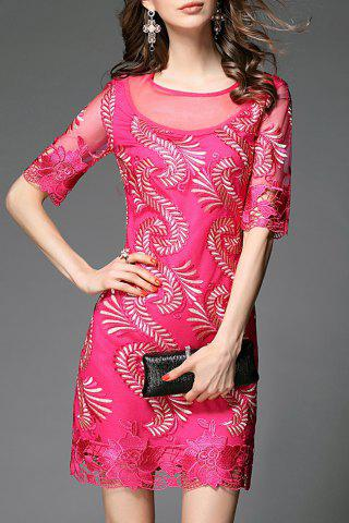 Shops Sheath Embroidered Dress