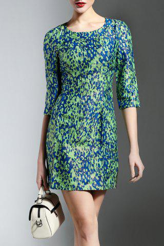 Shop Jewel Collar Print Dress