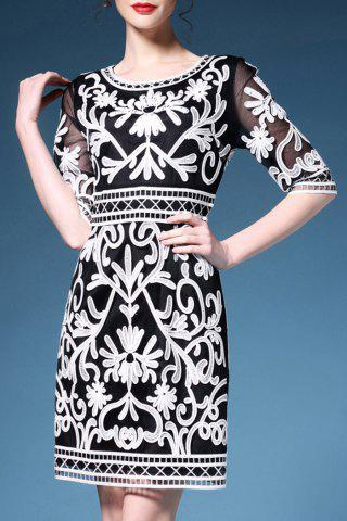 Best Embroidered High Waist Sheath Dress