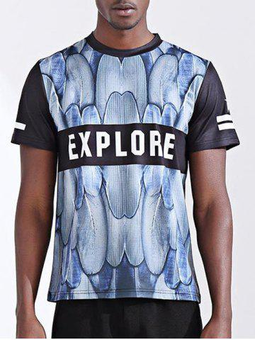 Shops Fashion Letter Printing Round Collar Short Sleeves T-Shirt For Men