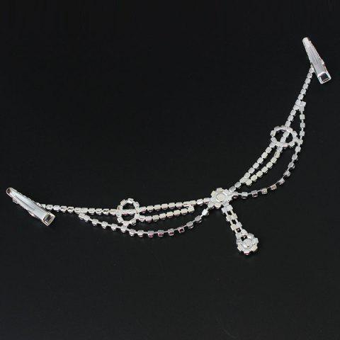 Hot Delicate Rhinestone Multi-Layered Round Forehead Chain For Women - SILVER  Mobile