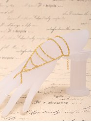 Graceful Multilayered Hollow Out Bracelet With Ring For Women