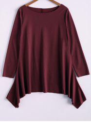 Fashionable Skew Neck Loose-Fitting T-Shirt For Women -