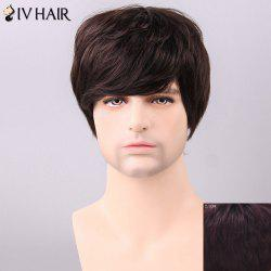Siv Hair Men's Trendy Side Bang Human Hair Wig -