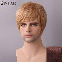 Siv Hair Fluffy Straight Side Bang Human Hair Wig