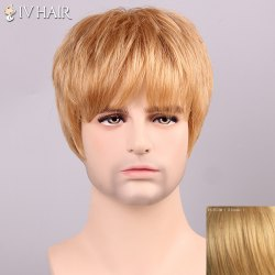 Siv cheveux Shaggy Plein Bang Cheveux Men 's Perruque -