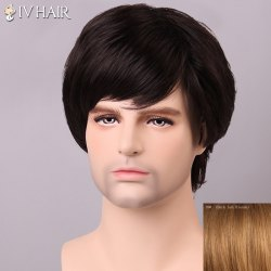 Siv Hair Shaggy Inclined Bang Human Hair Men's Wig