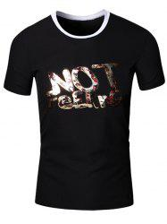 Round Neck Slimming 3D Letters Printed Short Sleeve T-Shirt For Men -