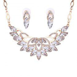 Fake Crystal Statement Necklace and Earrings