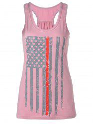 Distressed American Flag Patriotic Tank Top -
