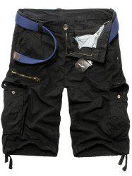 Casual Men's Straight Leg Zipper Fly Camo Multi-Pockets Shorts -