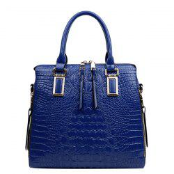 Fashionable Metal and Embossed Design Tote Bag For Women -