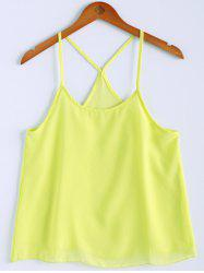 Sweet U Neck Spaghetti Strap Solid Color Camisole Top For Women