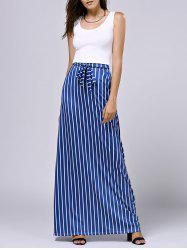 Cropped Tank Top and Striped Pocket Maxi Skirt