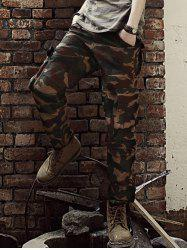 Straight Leg Camouflage Military Army Cargo Pants - COFFEE 2XL