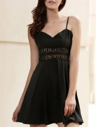 Empire Waisted Openwork Mini Slip Dress