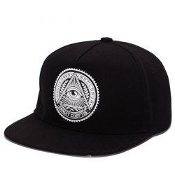 Stylish Retro Egypt Style Eye Round Labelling Hip-Hop Baseball Cap