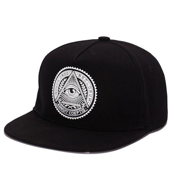 Stylish Retro Egypt Style Eye Round Labelling Hip-Hop Baseball CapACCESSORIES<br><br>Color: BLACK; Hat Type: Baseball Caps; Group: Adult; Gender: Unisex; Style: Fashion; Pattern Type: Round; Material: Polyester; Circumference (CM): 55CM-58CM; Weight: 0.098kg; Package Contents: 1 x Hat;