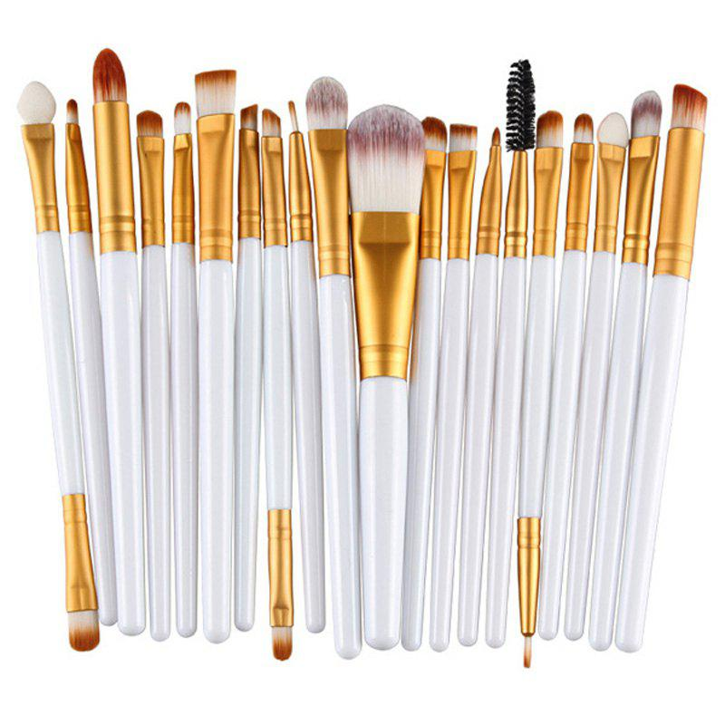 Stylish 20 Pcs Plastic Handle Nylon Makeup Brushes Set от Rosegal.com INT