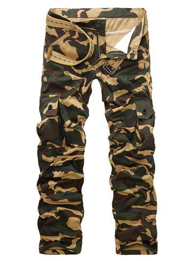 Unique Straight Leg Camouflage Military Army Cargo Pants