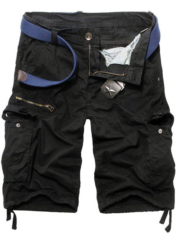 Hommes Casual  's Jambe droite Zipper Fly Camo Multi-poches Shorts