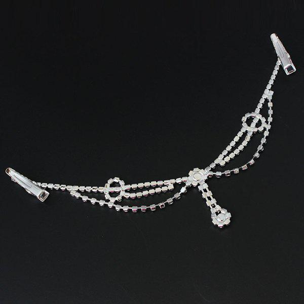 Delicate Rhinestone Multi-Layered Round Forehead Chain For WomenACCESSORIES<br><br>Color: SILVER; Headwear Type: Headband; Group: Adult; Gender: For Women; Style: Fashion; Pattern Type: Solid; Weight: 0.030kg; Package Contents: 1 x Headband;