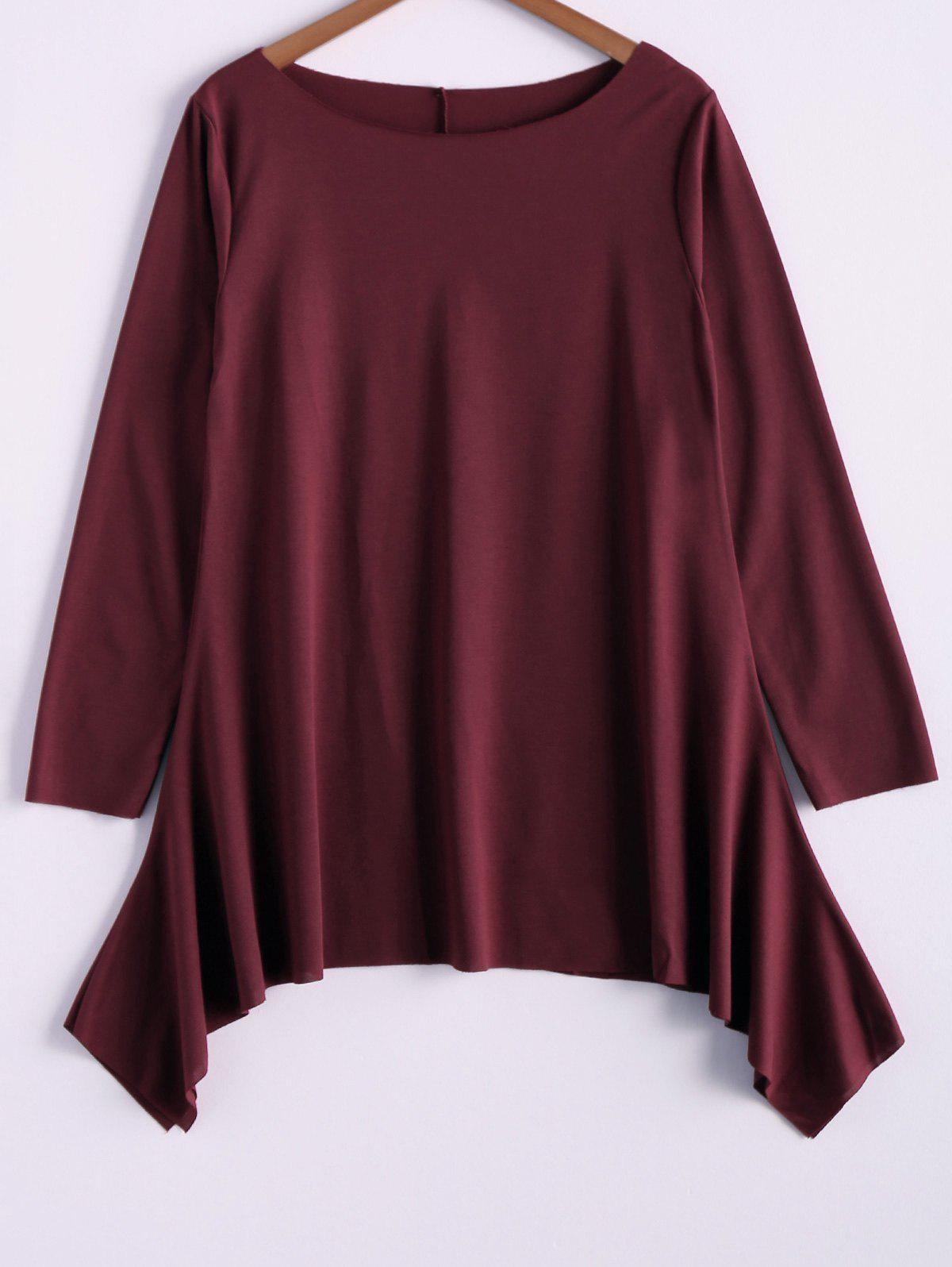 Unique Fashionable Skew Neck Loose-Fitting T-Shirt For Women