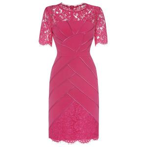 Lace Panelled Wedding Tea Length Dress