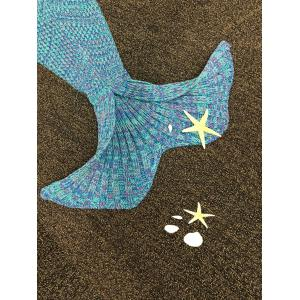 Stylish Knitted Mermaid Baby Blanket -