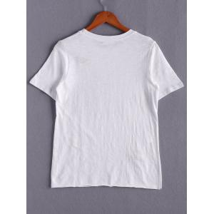 Casual Short Sleeve Letter Print Round Neck Women's T-Shirt -