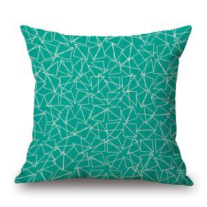 Contemporary Geometry Pattern Cotton and Linen Pillow Case