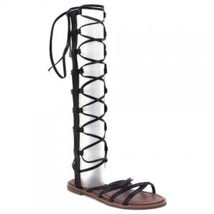 Leisure Cross Straps and Zipper Design Sandals For Women
