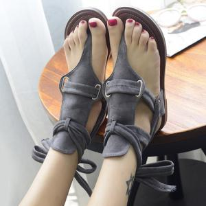 Casual Flock and Solid Colour Design Sandals For Women -