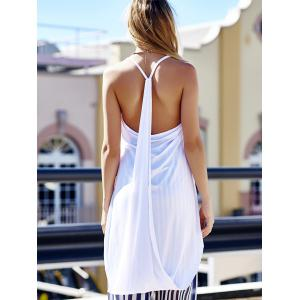High Low Hem Cami Tank Top - WHITE M