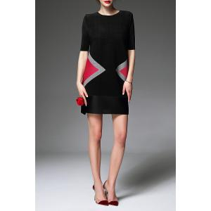Colorblock Mini Trapeze Dress -