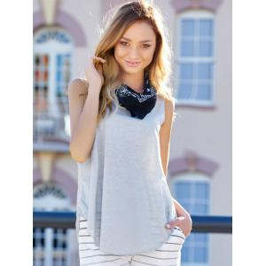 Plunging Neck Sleeveless Simple Style Solid Color Modal Women's Tank Top -