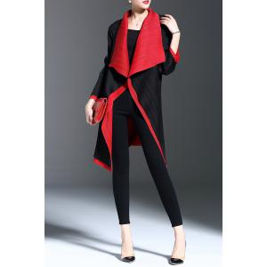 Color Block Waterfall Coat -