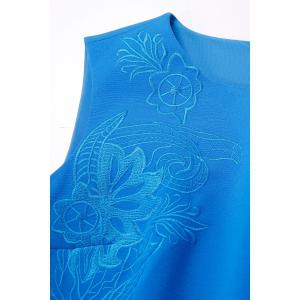 Embroidered Bodycon Midi Dress For Women -