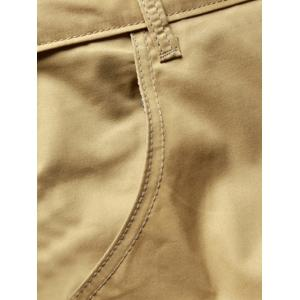 Plus Size Straight Legs Zip Fly Solid Color Shorts For Men -