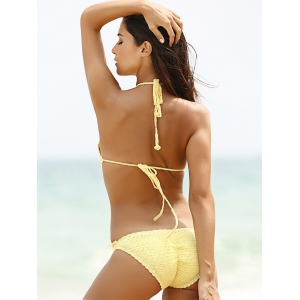Halter Crochet Hollow Out Knitting Swimwear -