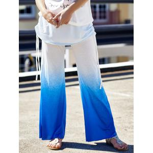 Ombre Color Wide Leg Yoga Pants
