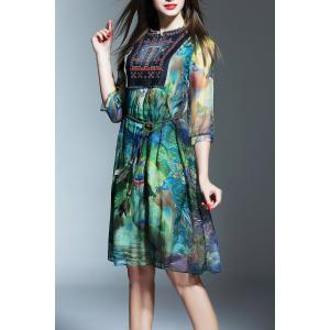 Patched Colorful Dress -
