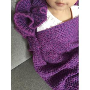 Falbala Shape Mermaid Tail Design Knitted Baby Blankets -