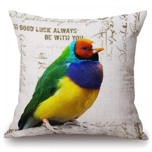 Fashionable Colorful Parrot Pattern Square Shape Pillowcase (Without Pillow Inner) - Colorful