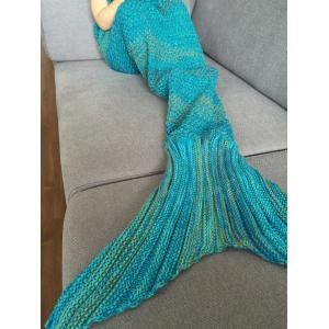 Fashion Stripe Knitted Mermaid Tail Design Blanket For Kids