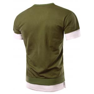 Personality Round Neck Short Sleeve Fake Twinset T-Shirt For Men -