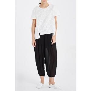 Solid Color Loose Ninth Pants -