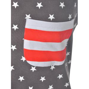 Casual U Neck American Flag Tank Top For Women -