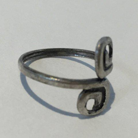 Characteristic Simple Design 8-Shaped Cuff Feet Ring For Women - SILVER ONE-SIZE