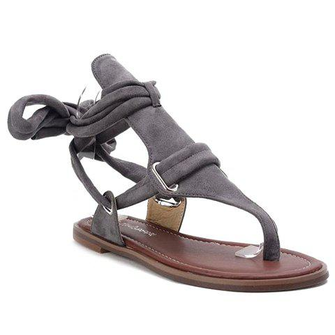 Shops Casual Flock and Solid Colour Design Sandals For Women